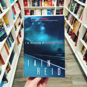 a review of im thinking of ending things the debut novel of iain reid So last night, i finished reading iain reid's debut novel, i'm thinking of ending things well, after completing this novel, i'm thinking that i shouldn't have read this before i went to bed.